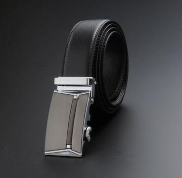新品:オートロック式 本革 高級ベルト 110〜125cm長さ選択5