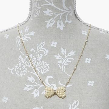 美品ストロベリーフィールズ フェイクパールネックレス良品 正規