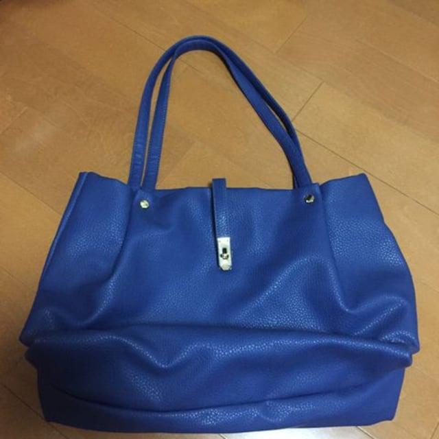 送料込み♪ブルー トートバック(〃ω〃)  < 女性ファッションの