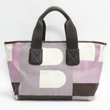 BALLYバリー トートバッグ ハンドバッグ ロゴ柄 薄紫系 正規品
