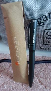 ハミルトン 非売品 高級ボールペン ブラック ノベルティ品 未使用 新品