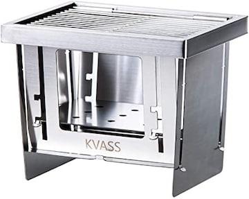 KVASS バーベキューコンロ 折りたたみ 焚き火台 コンパクト キ