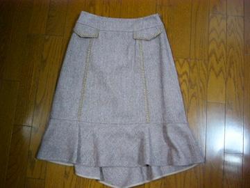 キャサリンロス アシメトリーデザインのウールシルクスカート