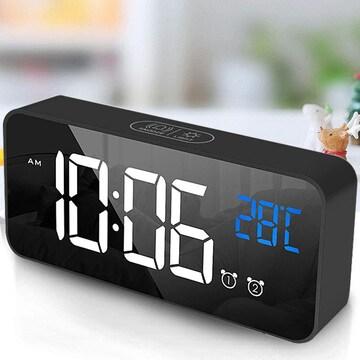 目覚まし時計 置き時計 デジタルLED時計 目覚ましライト