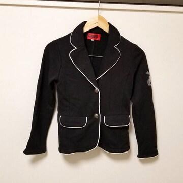 新品◆GREED◆ラインストーンスカル黒×白ジャケット140