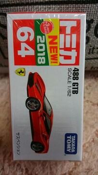 トミカ 64 フェラーリ 488 GTB レッド 未開封 新品 初回箱