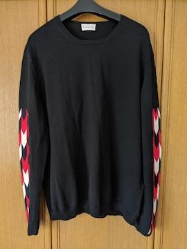 MONCLER 長袖セーター 黒色 モンクレール ブラック 羊毛