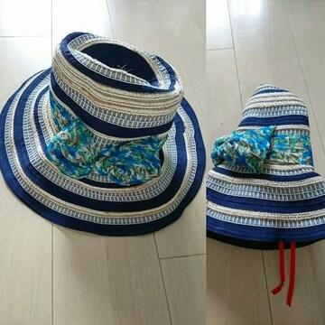 グレースハット 折り畳める帽子です。日焼け対策に