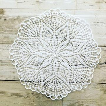 ♪手編み♪  レースドイリー  ホワイト