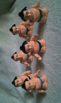 相撲  フィギュア 6体セット 中古品