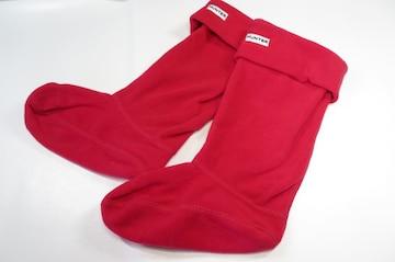 HUNTER ハンター フリース 靴下 ブーツ用 M ピンク