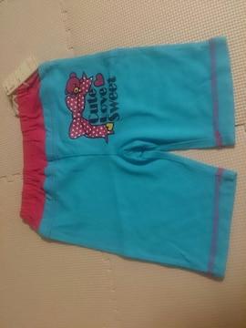 新品 95 ブルーの短パンツ