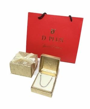 DPLUSラインストーンブレスレットピンクゴールド&ジルコニア新品