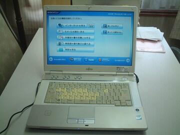 すぐ使える らくらくノートパソコン FMV-NF/BR コア2 2G 240G