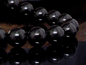 天然ブラックオニキス10ミリ黒瑪瑙数珠