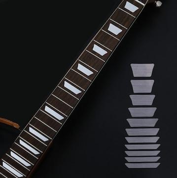 エレキギター指板 ステッカー【フレットマーカー】シルバー