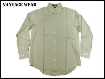 新 【ベイジ色-2X】Vantage大きいシャツアメリカ輸入品