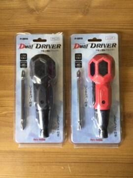 デユアルドライバ PF-DDV1 黒 赤 手動&電動ドライバー