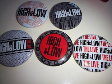 EXILE HIGH&LOW ハイロー ツアーグッズ ロゴ缶バッジ 5個セット 三代目JSB