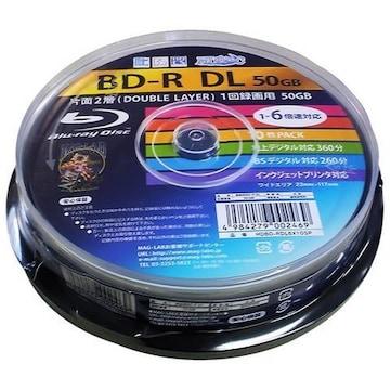 人気急上昇!BD-R HDBD-RDL6X10SP 10枚