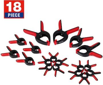 18個強力なスプリングクランプセット樹脂ナイロント製