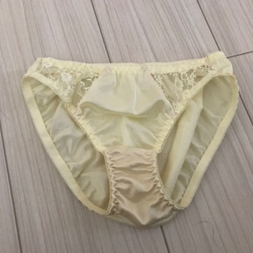 パンツ ショーツ レディース Mサイズ フルバック シンプル 黄色