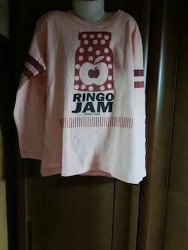 リンゴジャムのかわいい(*≧з≦)長袖Tシャツ140�p
