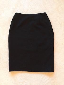 ■ひざ丈 OL風 タイトスカート■黒 スーツや夜のお仕事にも■□