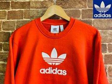 表記XO/新品!アディダス adidas AG スウェット 赤 ビンテージスタイル 古着MIX