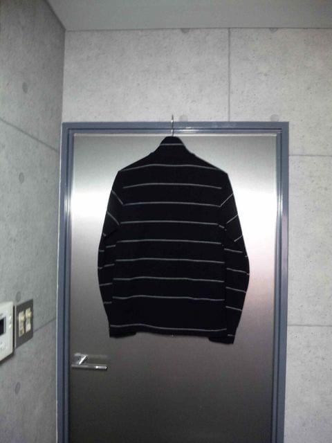 カスタムカルチャー〓スタンドジップカーディガン黒ボーダー/44 < 男性ファッションの