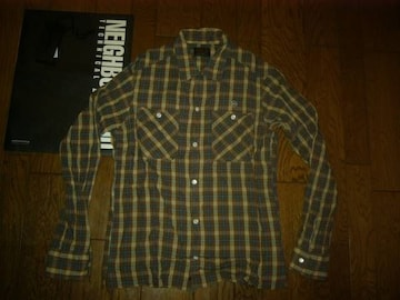 新品NEIGHBORHOODネイバーフッド洗い加工チェックシャツSB&C11