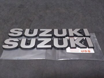 GS400 タンクエンブレム (シルバー) 新品即決 SUZUKI純正