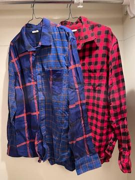 ★GUフランネルチェックシャツ(長袖)×2点セット★