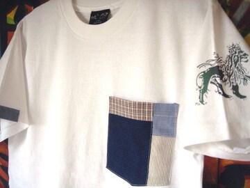 レゲエ Jah Lion ジャーライオン パッチワーク ポケット Tシャツ