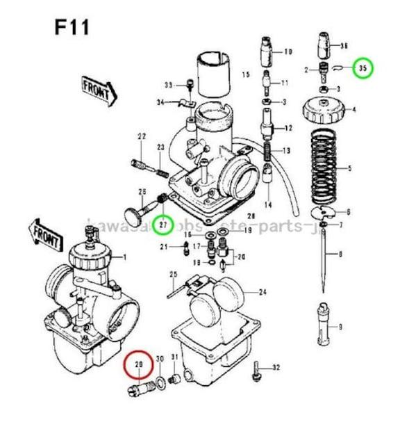 カワサキ F11 F11M メインジェットホルダー・ボルト 絶版新品 < 自動車/バイク