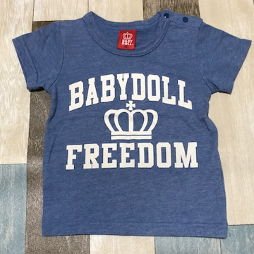 ∂+/BABY DOLL プリントTシャツ 90 Blue