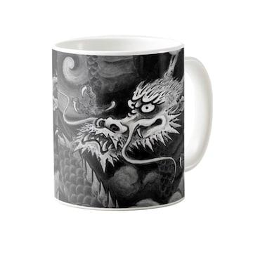 雲龍院、水墨の龍のマグカップ 2