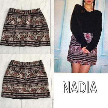NADIA ゴブラン織りミニスカート ナディア