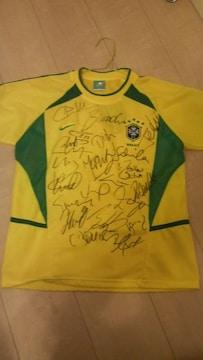 ブラジル代表 21選手 直筆サインユニホーム