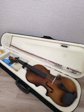 ブラウン 木製 バイオリン ヴァイオリン 楽器 音楽