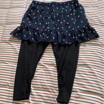 新品タグ付3L 大きいサイズスカートつきスパッツドット柄パンツ