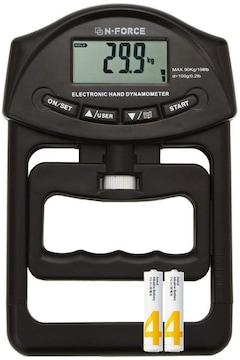 デジタル握力計 握力測定 書付 HG-251 黒エディション