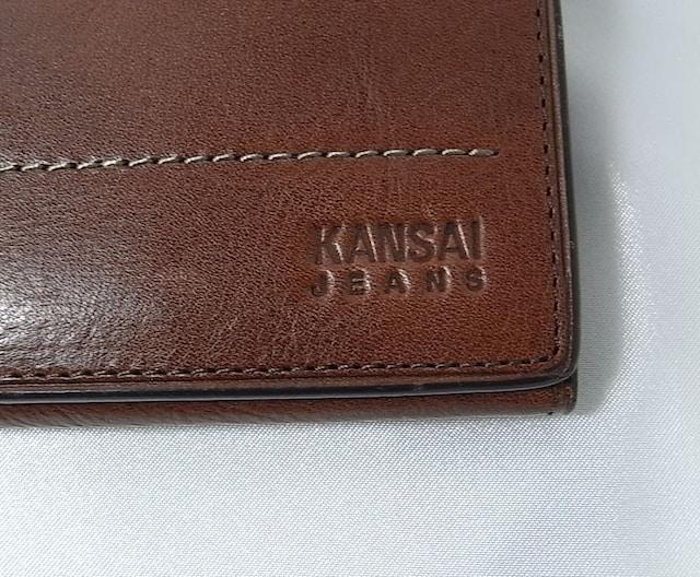 確実正規KANSAI 牛革長財布 ブラウン