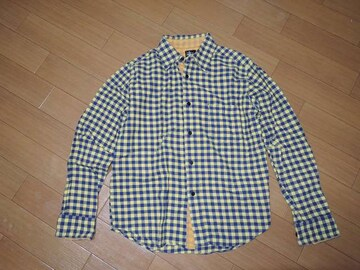 STUSSYステューシーキットプレイドチェックシャツS黄紺系KIT