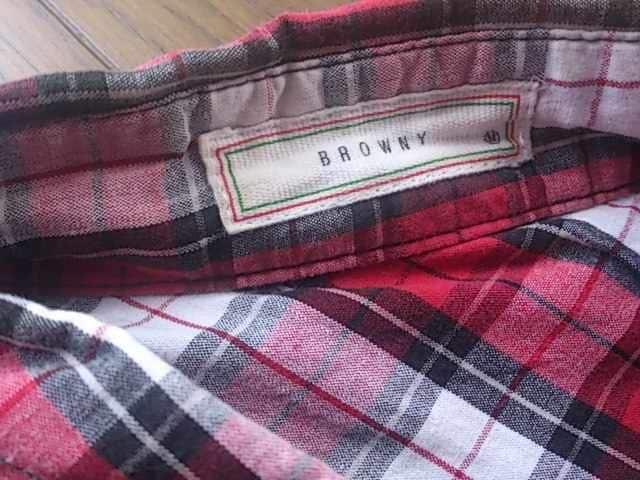 ★BROWNY製半袖チェック柄シャツ/WEGOサイズM < ブランドの