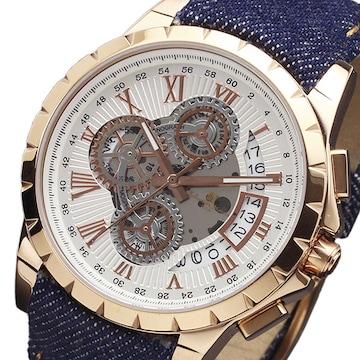 サルバトーレマーラ クオーツ腕時計SM13119D-PGWHBL ホワイト