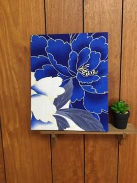 鮮やか青い花☆木製ファブリックパネル♪30残り1点