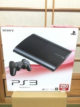 プレイステーション3チャコールブラック新品250GB+ゲームソフト