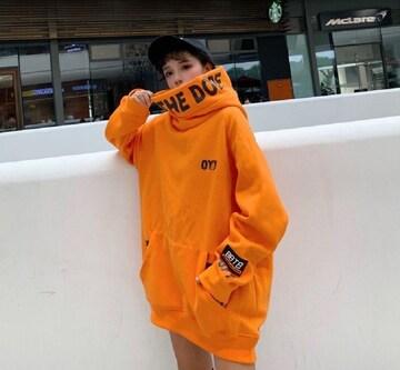 XLサイズ オレンジ パーカー トップス ビックフード