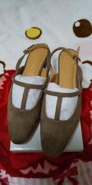 ルノンキュールの靴♪Lベージュ新品